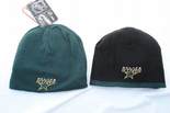 Dallas Stars, Reversible Beanie Hat, Green & Black